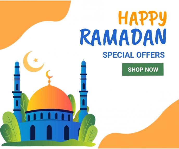 Ramadan ad,event, eid Большой прямоугольник template