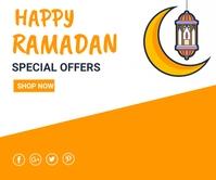 Ramadan ad,event, eid Rettangolo grande template