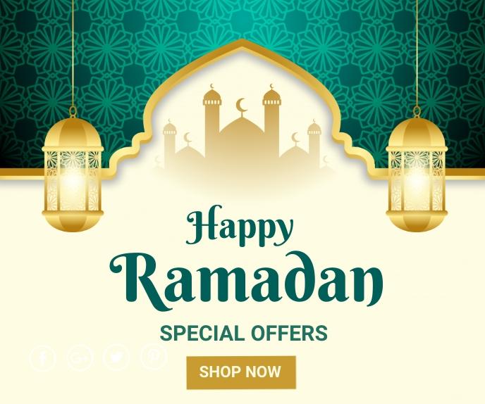 Ramadan ad,event, eid Umugqa Omkhulu template