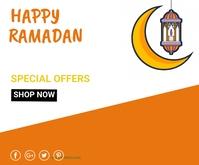 Ramadan ad,event Rettangolo medio template