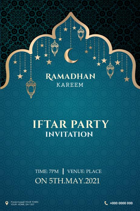 Ramadan banner Cartel de 4 × 6 pulg. template
