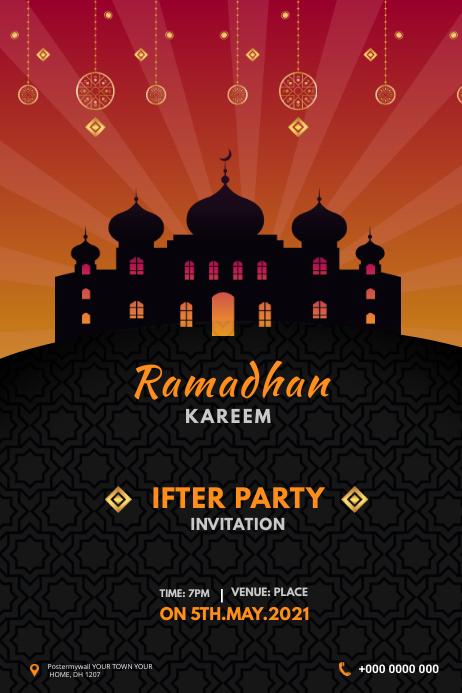 Ramadan Banner Баннер 4' × 6' template