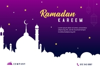 Ramadan Banner Template Postcard