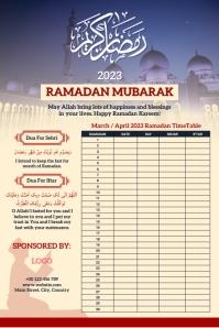 Ramadan Calendar 2021 Template Design โปสเตอร์