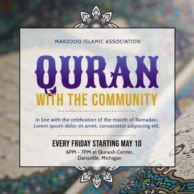 Ramadan Community Event Invitation
