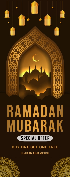 Ramadan 易拉宝 2' × 5' template