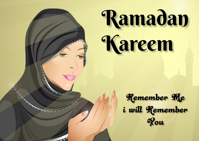 ramadan Postkort template