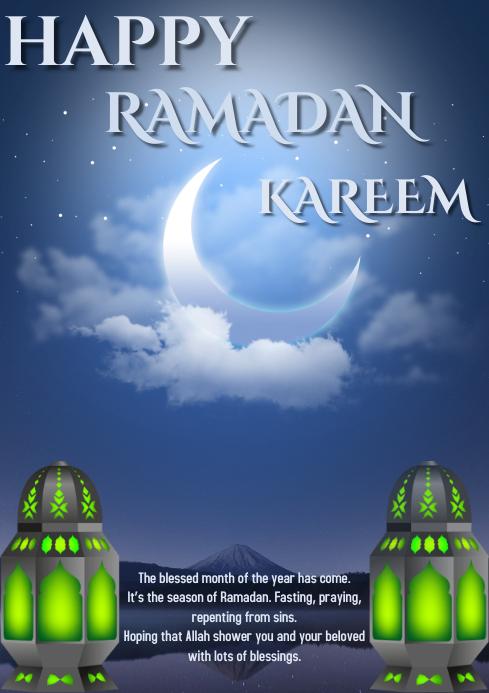 ramadan A4 template