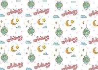 Ramadan ไปรษณียบัตร template