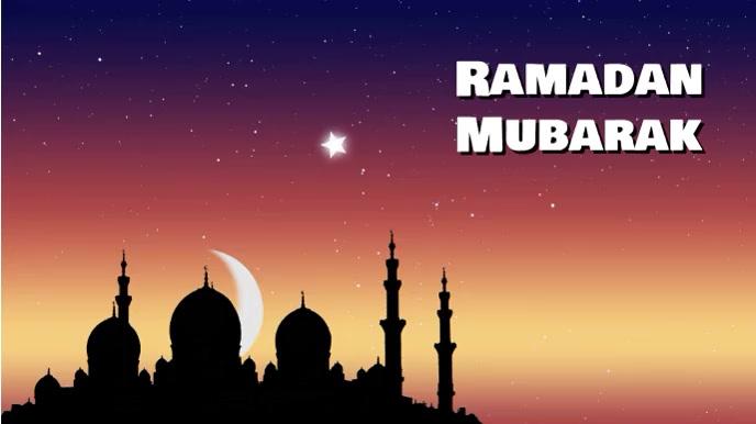 ramadan 数字显示屏 (16:9) template