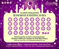 Ramadan Fasting 30 Days Calendar Template Persegi Panjang Sedang