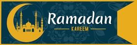Ramadan festival template design Banner 2' × 6'