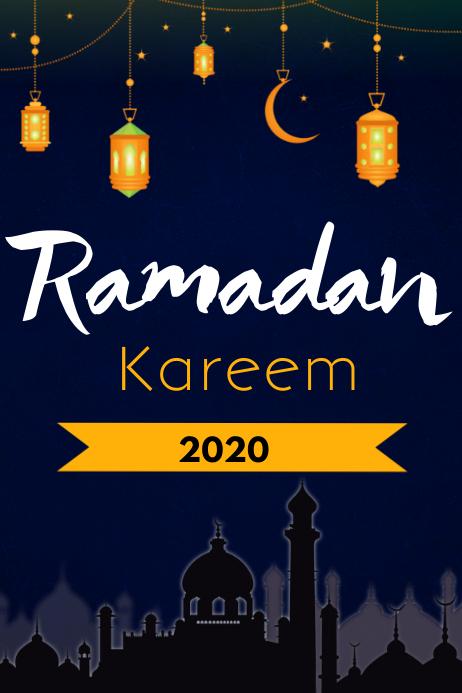 ramadan flyer Plakat template