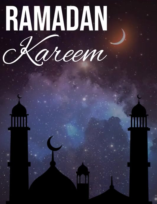 Ramadan Flyer Template Volantino (US Letter)