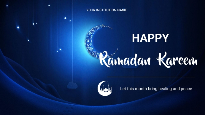 ramadan flyers Digitalt display (16:9) template