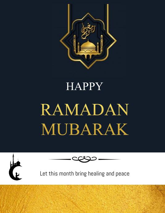 ramadan flyers Pamflet (Letter AS) template