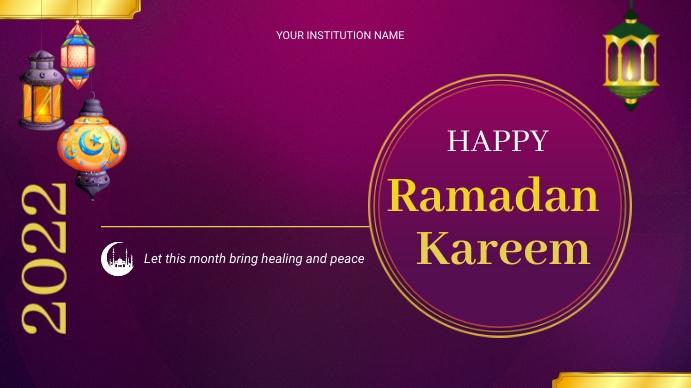 ramadan flyers Digital Display (16:9) template