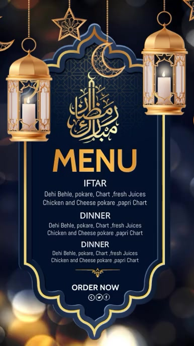 Ramadan flyers, Ramadan menu, iftar,Eid Instagram 故事 template