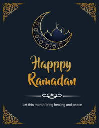ramadan flyers Pamflet (Letter AS) template