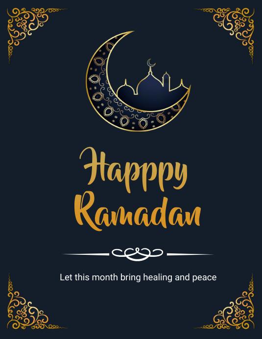 ramadan flyers Iflaya (Incwadi ye-US) template
