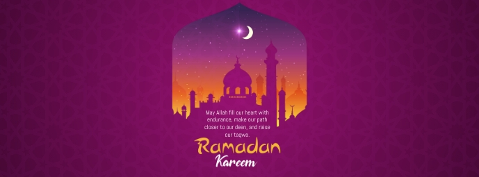 Ramadan Greeting Facebook 封面图片 template