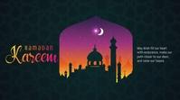 Ramadan Greeting Twitter Post template
