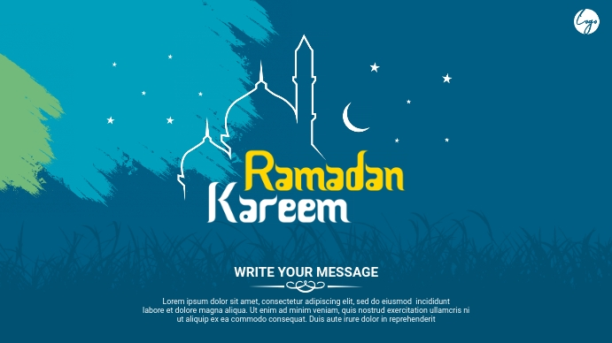 Ramadan Greeting Digitalt display (16:9) template