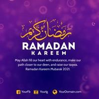 Ramadan greeting instagram post template