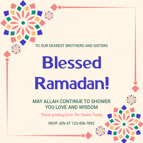 Ramadan Greeting Social Media Post Template