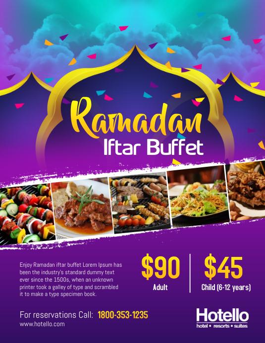 Ramadan Iftar Buffet Dinner Flyer