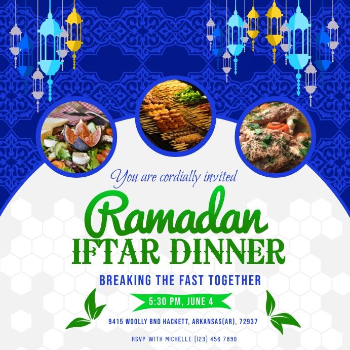 Ramadan Iftar Dinner Instagram Post template