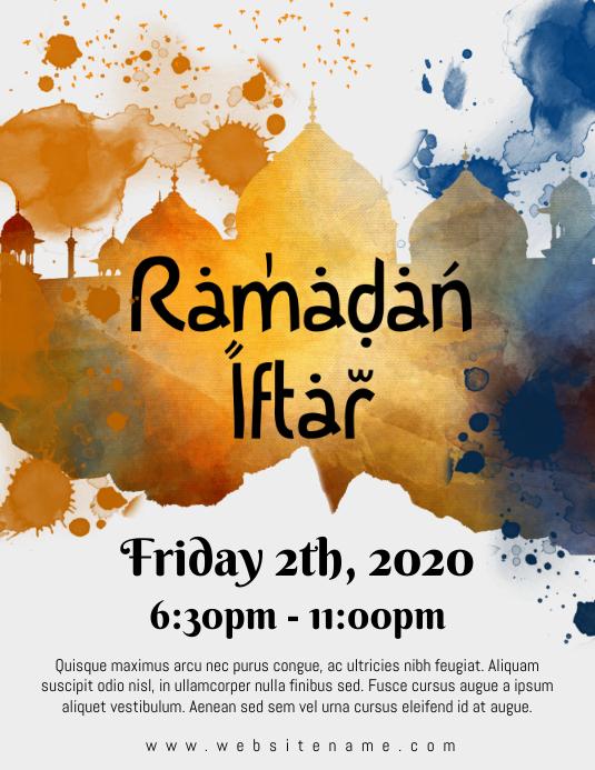 Ramadan Iftar Flyer Pamflet (VSA Brief) template