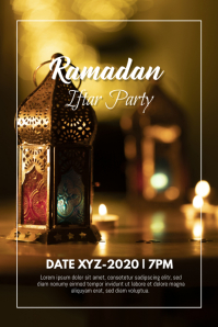 Ramadan Iftar Party Event Poster Flyer template