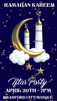 Ramadan Iftar Party Instagram Post Template Digitale Vertoning (9:16)