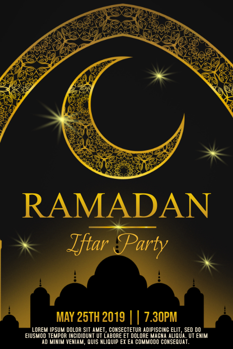 Ramadan Iftar Party Poster Template