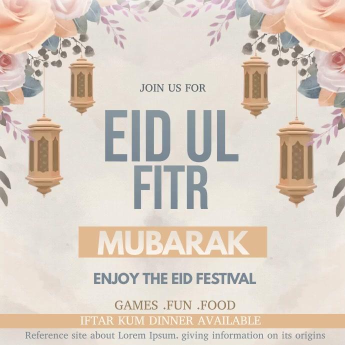 Ramadan Instagram post template
