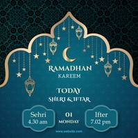Ramadan Instagram post Cuadrado (1:1) template