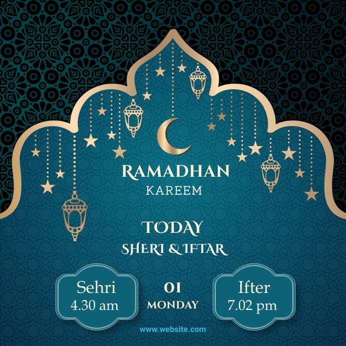 Ramadan Instagram post Square (1:1) template