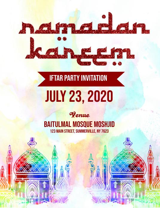 Ramadan Invitation Flyer