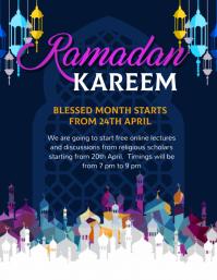 ramadan kareem, eid, ramadan, iftar Flyer (US Letter) template