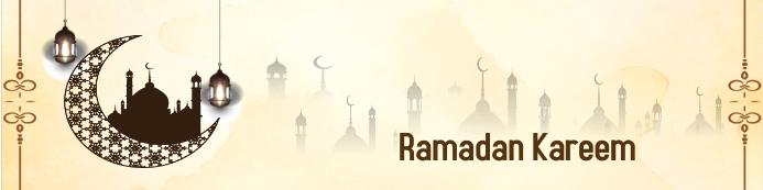 Ramadan Kareem Background Баннер 2 фута × 8 футов template
