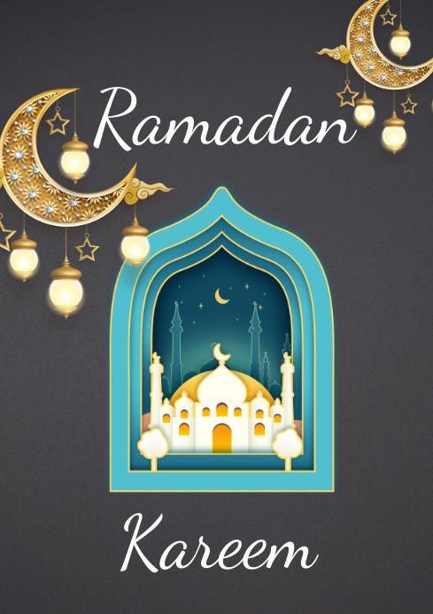 Ramadan Kareem A3 template