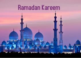 Ramadan Kareem Cartolina template