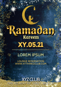 Ramadan Kareem Event Party Iftar Celebration A4 template