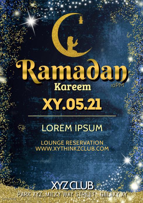 Ramadan Kareem Event Party Iftar Celebration A4 template