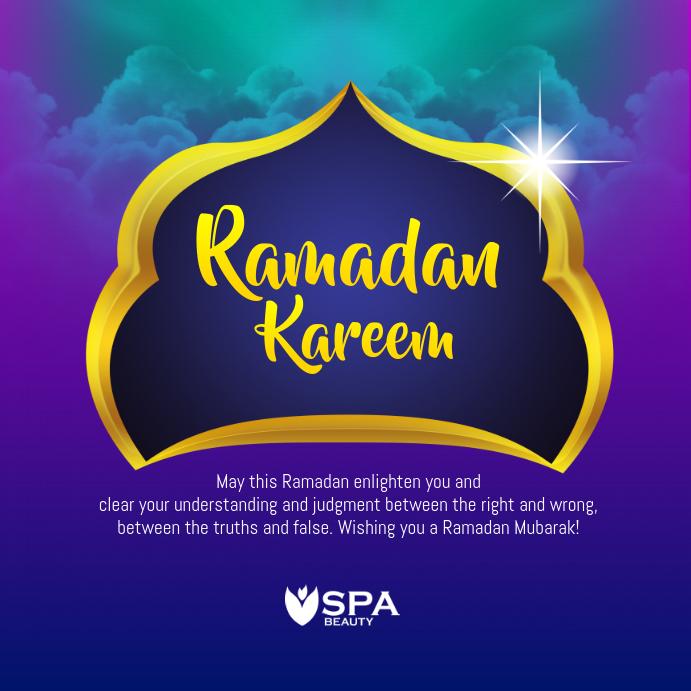 ramadan kareem greeting template postermywall