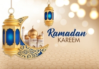 Ramadan Kareem Greeting A4 template