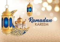 Ramadan Kareem Greeting A4 template