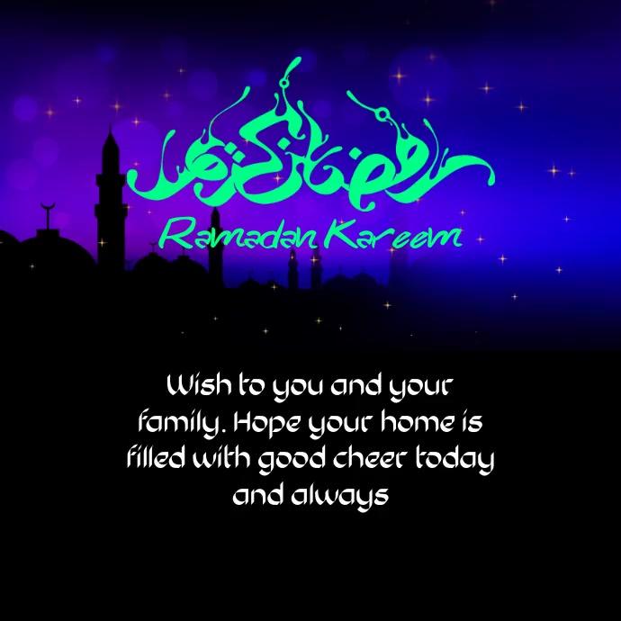 Ramadan Kareem Greeting Instagram Post template