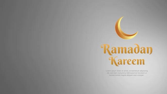Ramadan Kareem Greetings Video Poster Digitalt display (16:9) template